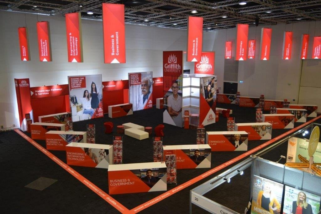 Exhibition Stand Builders Brisbane : Griffith uni exhibition stand 3vent productions