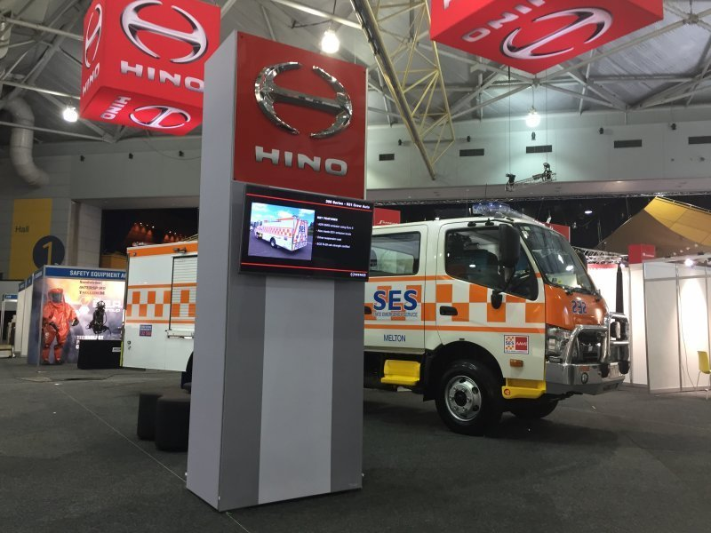 Exhibition Stand Builders Brisbane : Hino exhibition stand vent productions